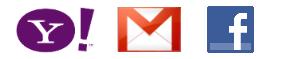 Yahoo, Gmail, Hotmail, Facebook